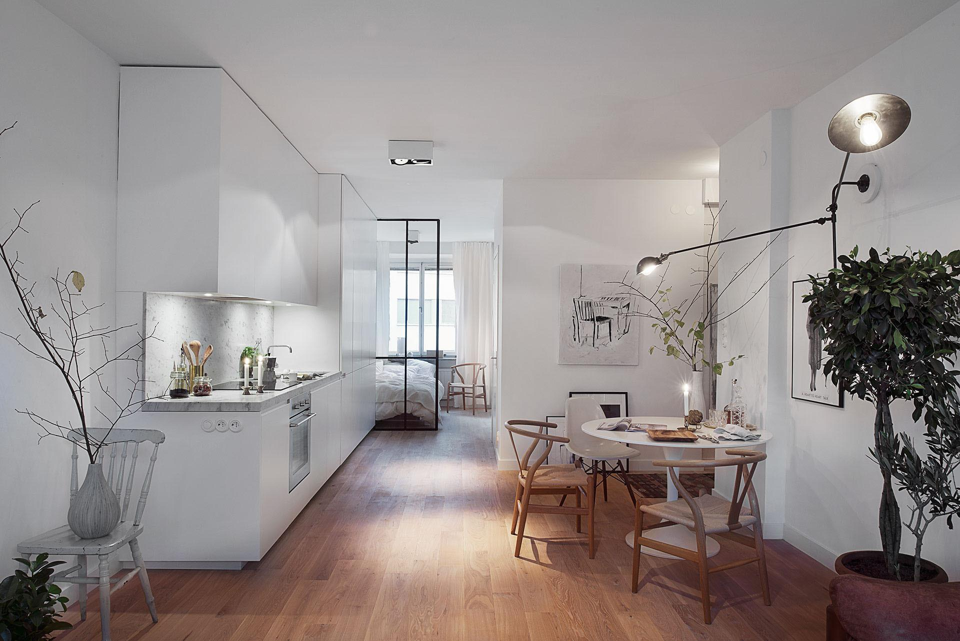 Stylish 420 Square Foot Small Apartment Modern