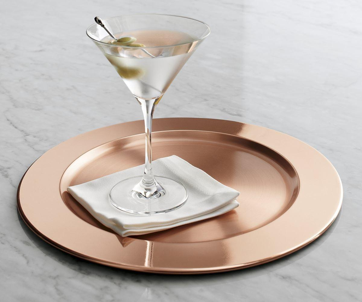 Stylish Chargers Festive Table