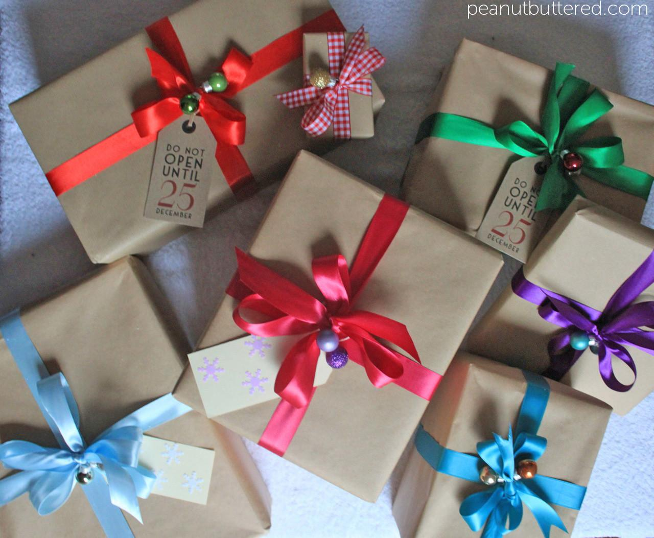 Stylish Christmas Wrapping Kraft Paper Mini