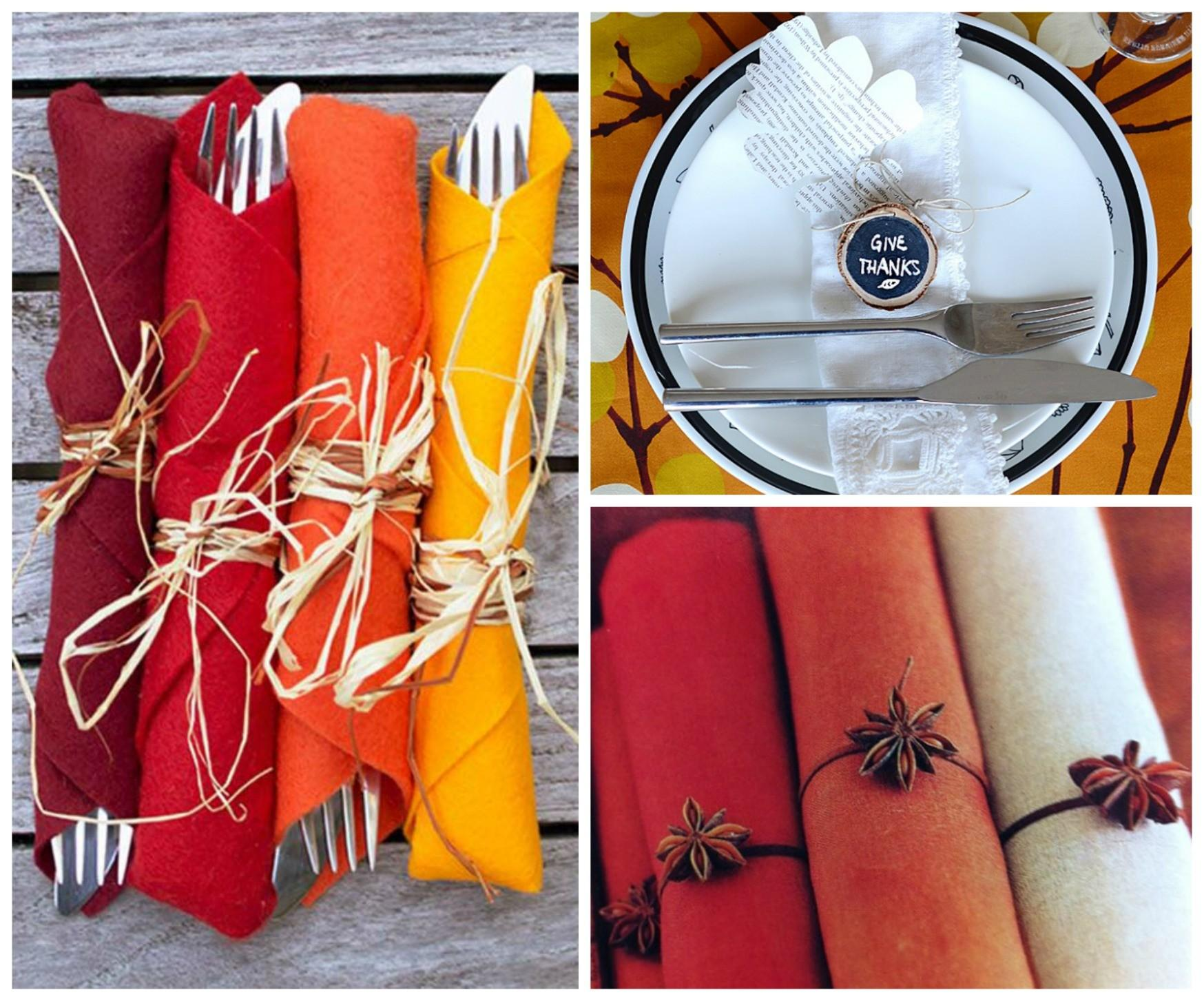Stylish Diy Thanksgiving Napkin Rings Gorgeous