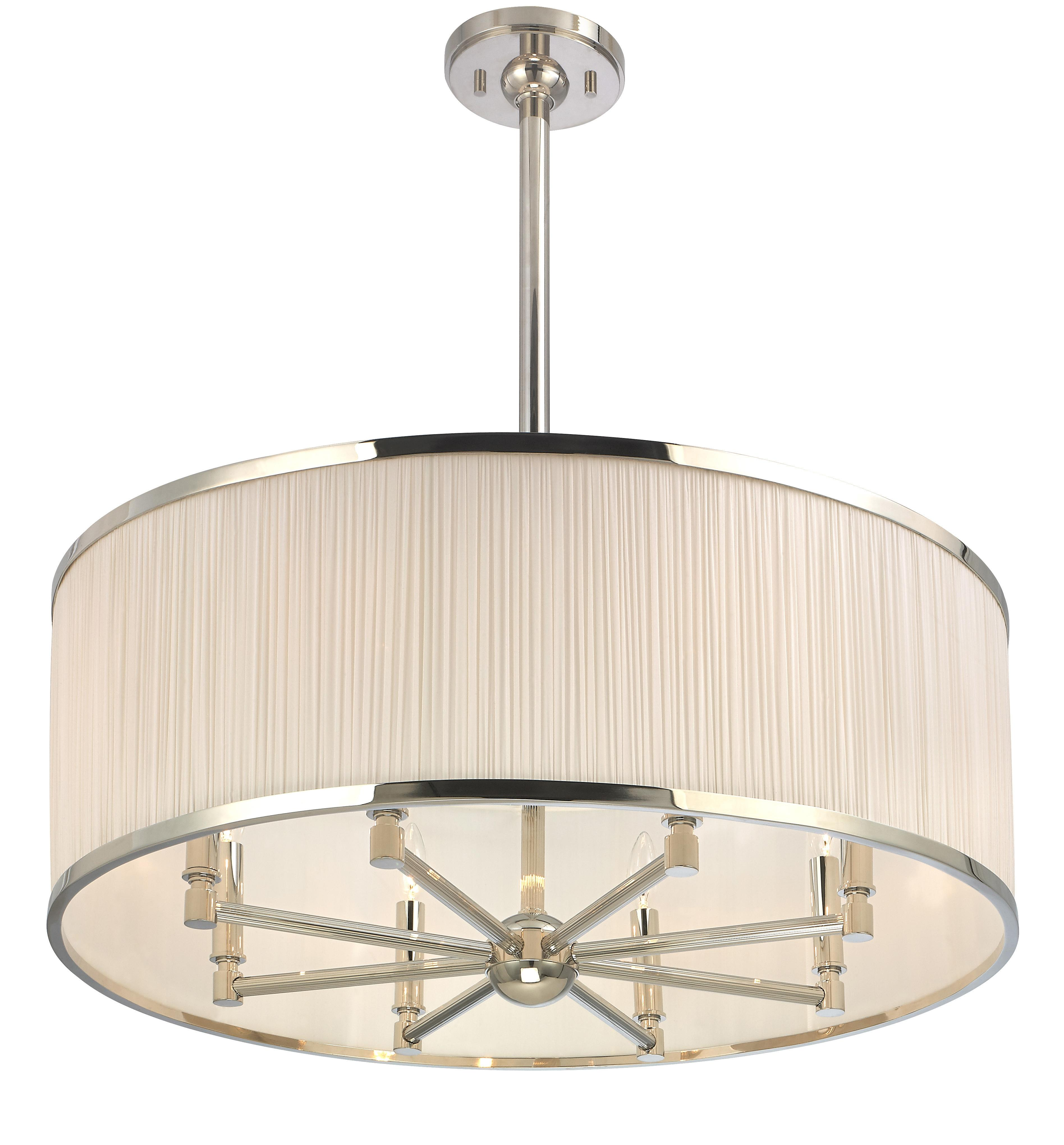 Stylish Drum Shade Pendant Light Home Decorating Ideas