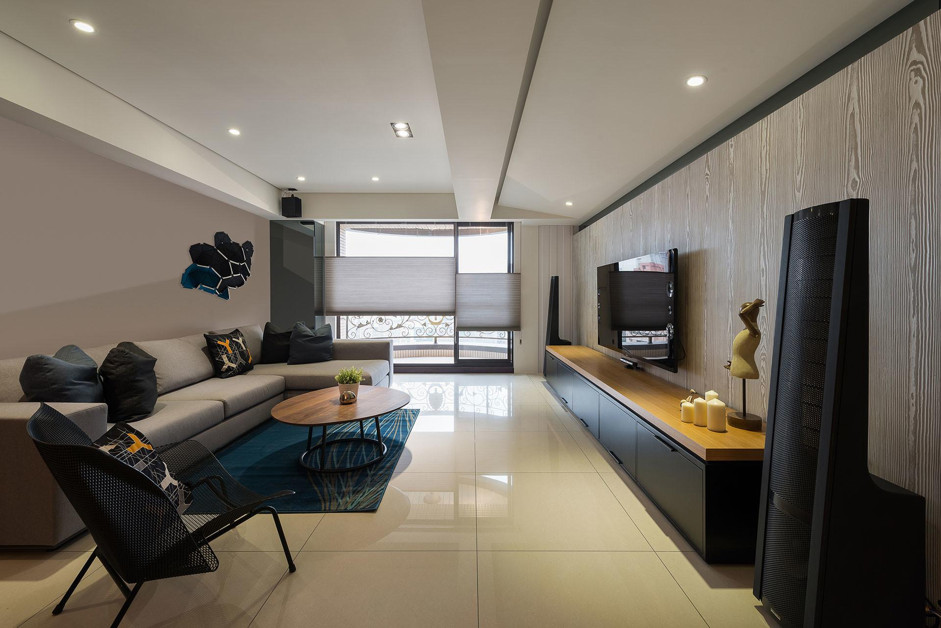 Stylish Element Apartment Taiwan White Interior