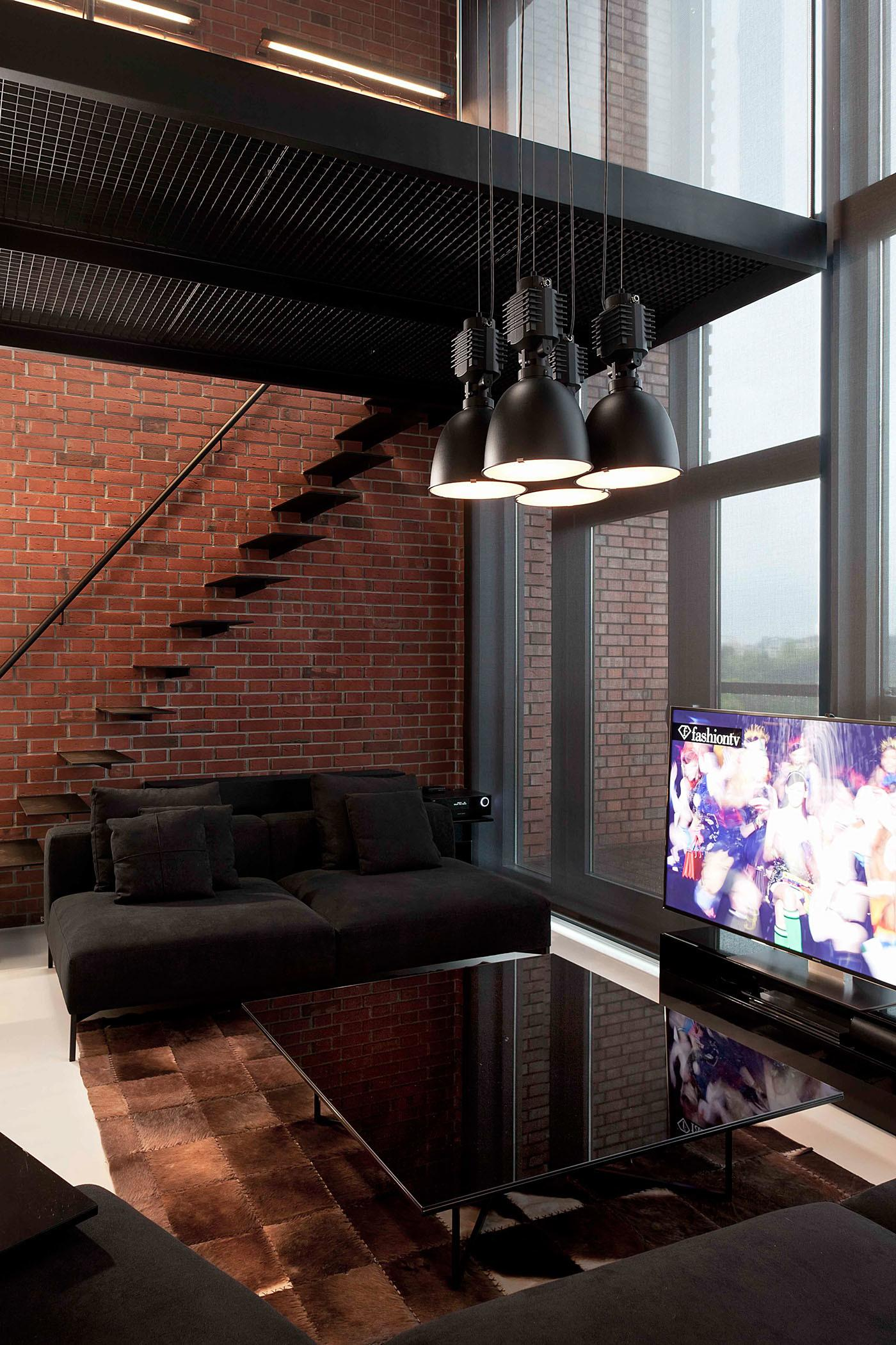 Stylish Exposed Brick Wall Lofts