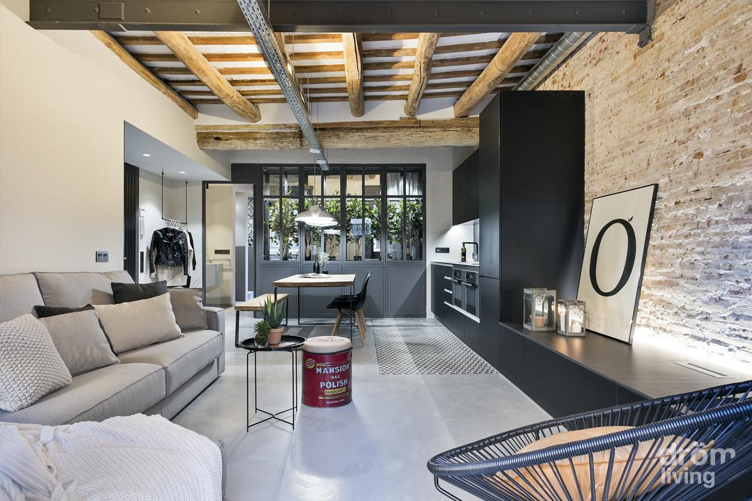 Stylish Industrial Loft Barcelona Features Greenhouse