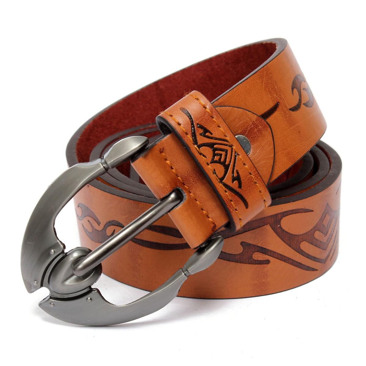 Stylish Mens Leather Belts Casual Dress Trouser Jeans