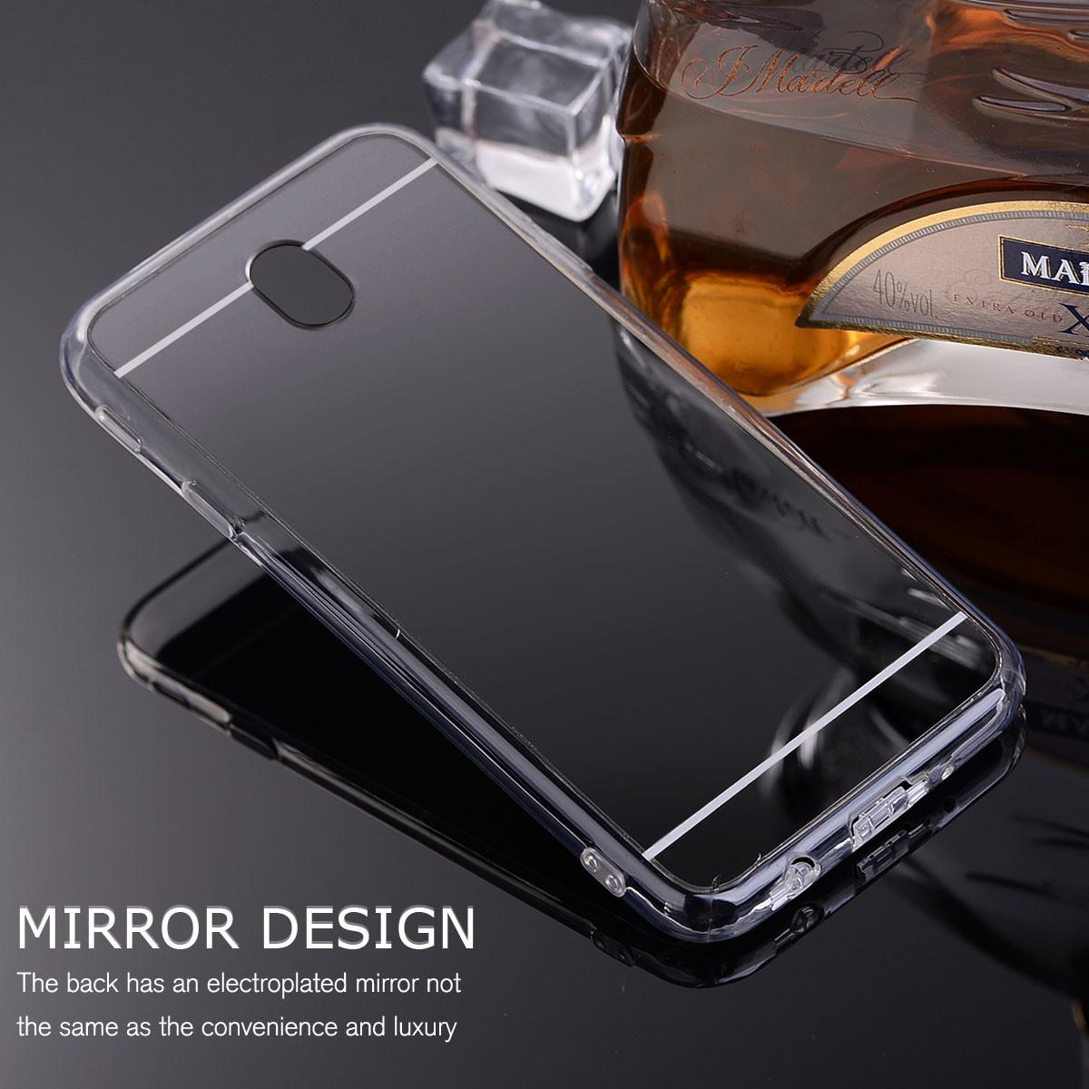 Stylish Mirror Clear Soft Tpu Bumper Hard Case Samsung