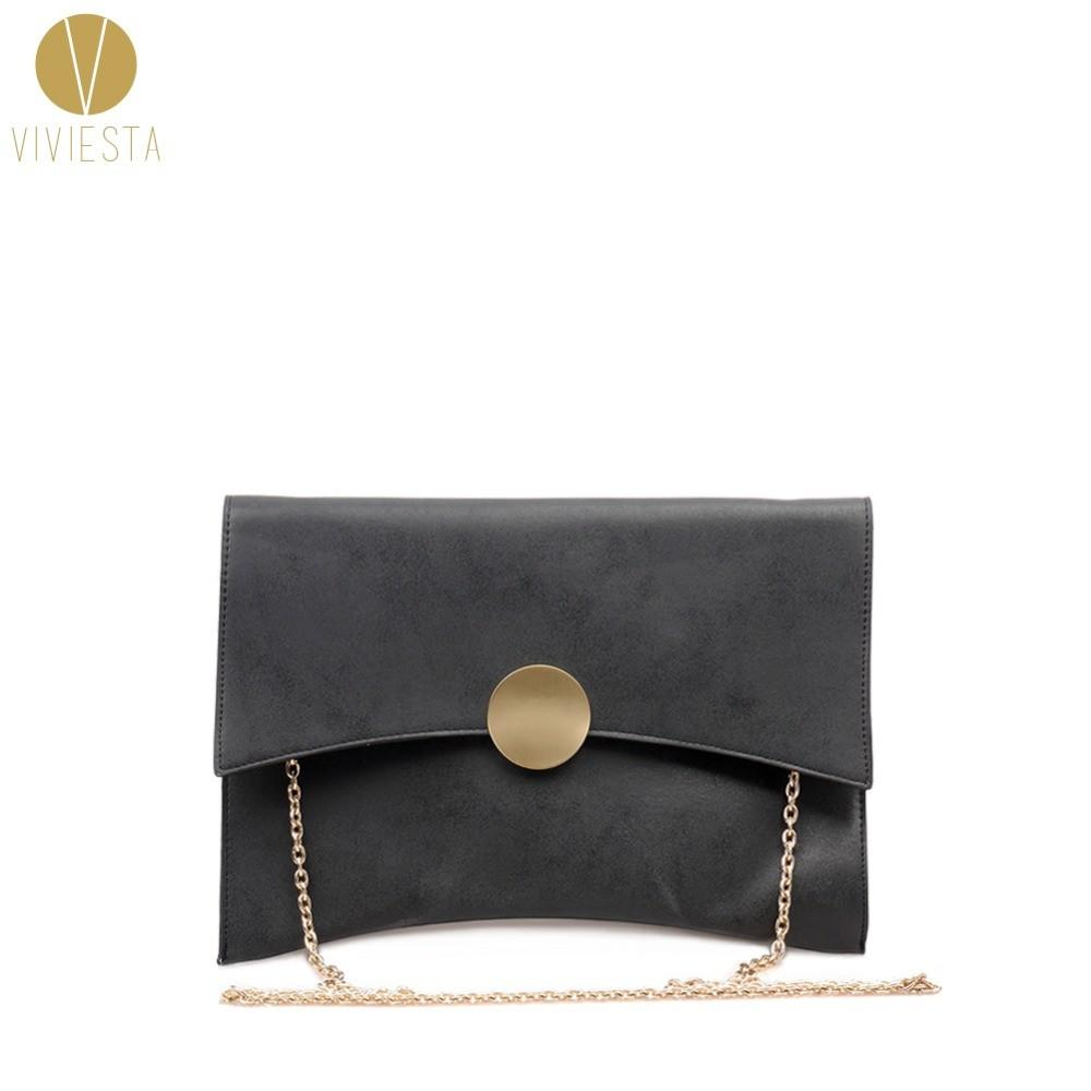 Stylish Suede Envelope Clutch Women Korean Style Simple