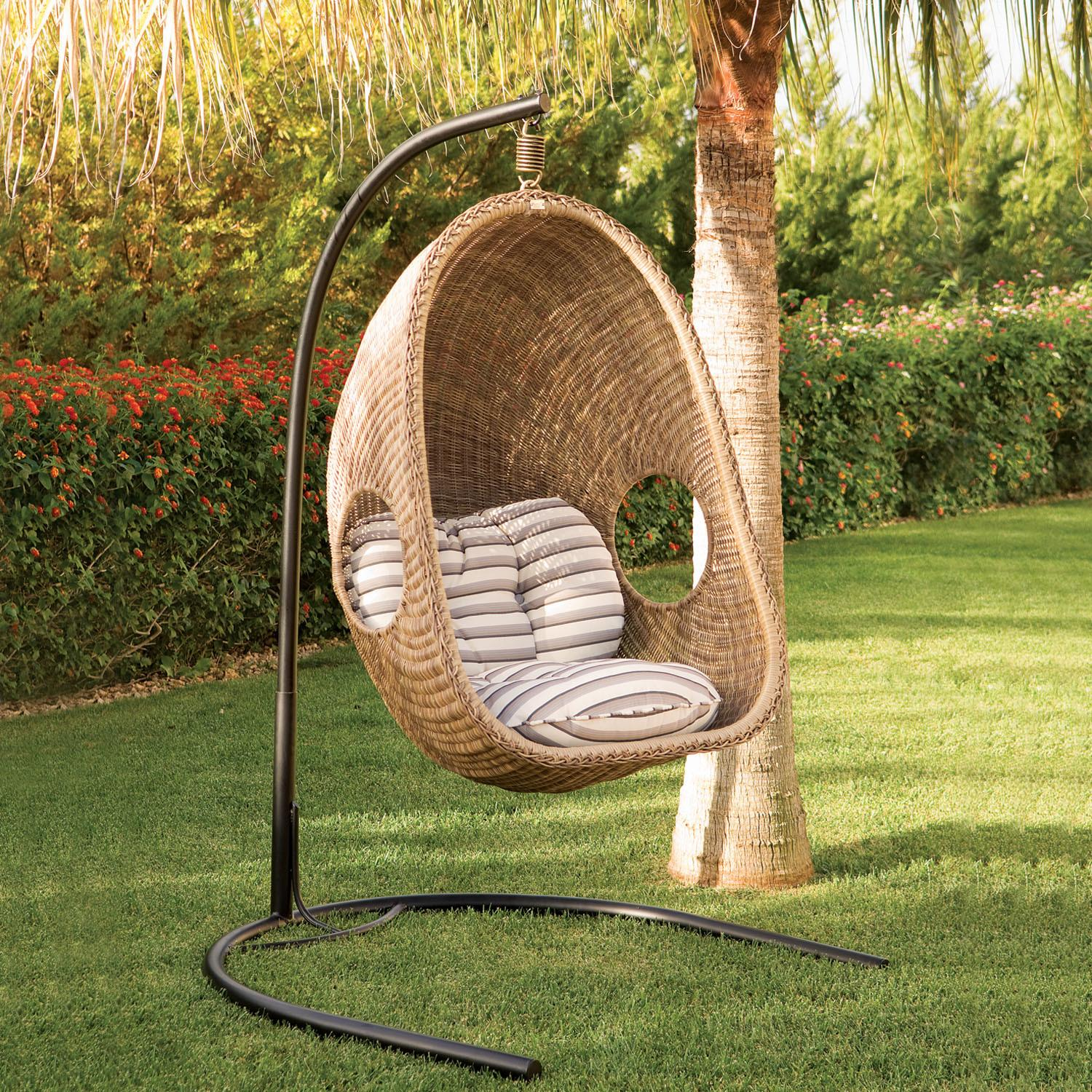 Sublime Coziness Hanging Wicker Chairs Rattan