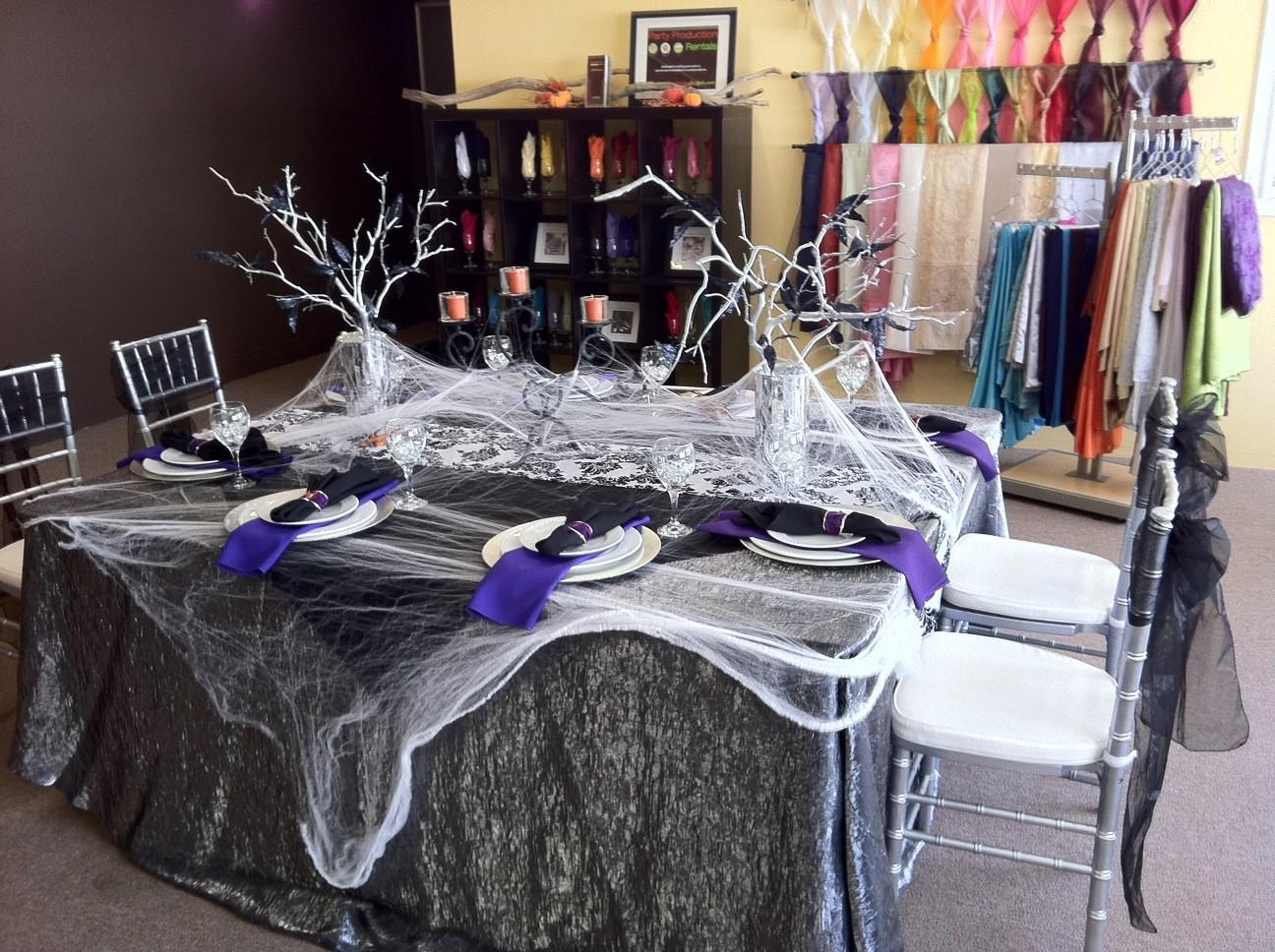 Substance Living Halloween Party Table Decorating Ideas