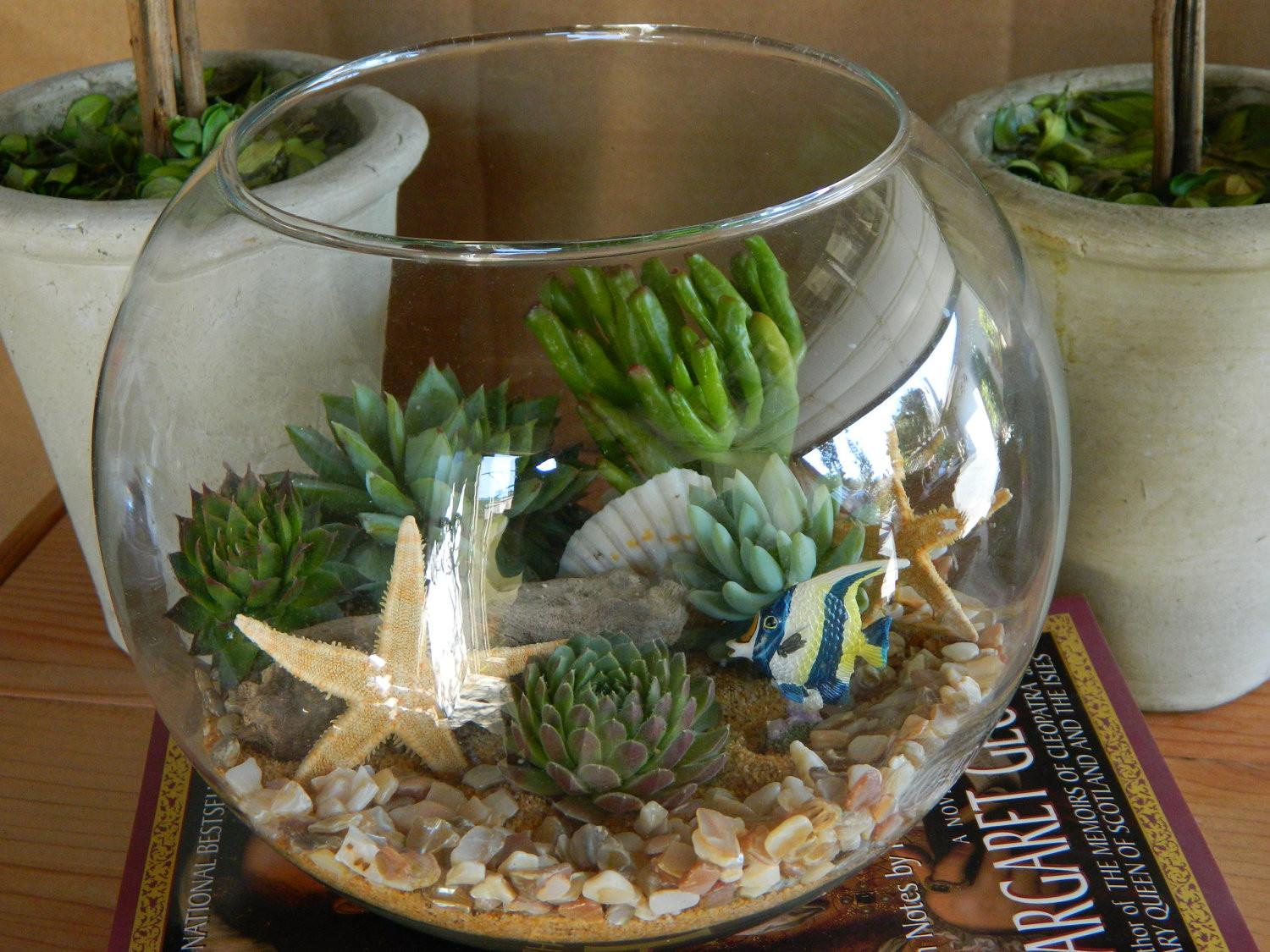 Succulent Terrarium Tabletop Wedding Centerpiece