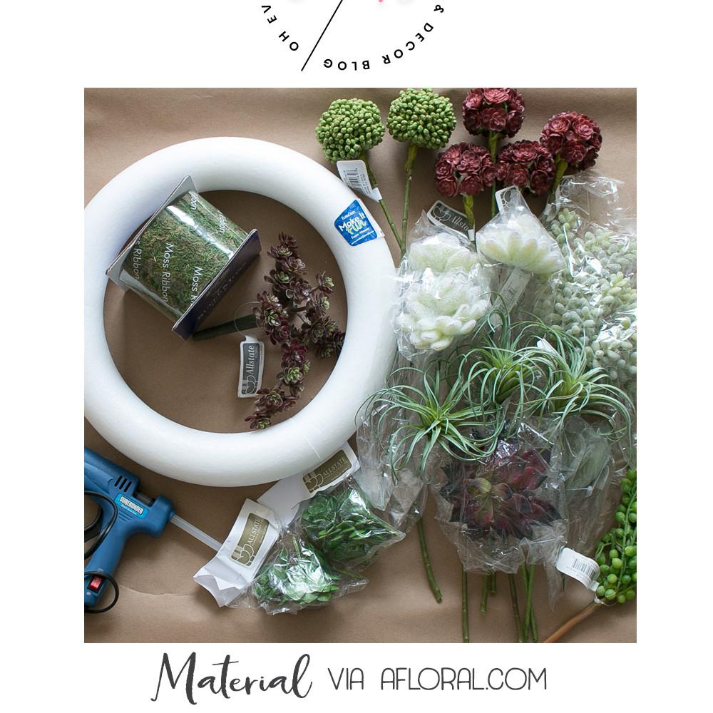 Succulent Wreath Diy Material Numbers