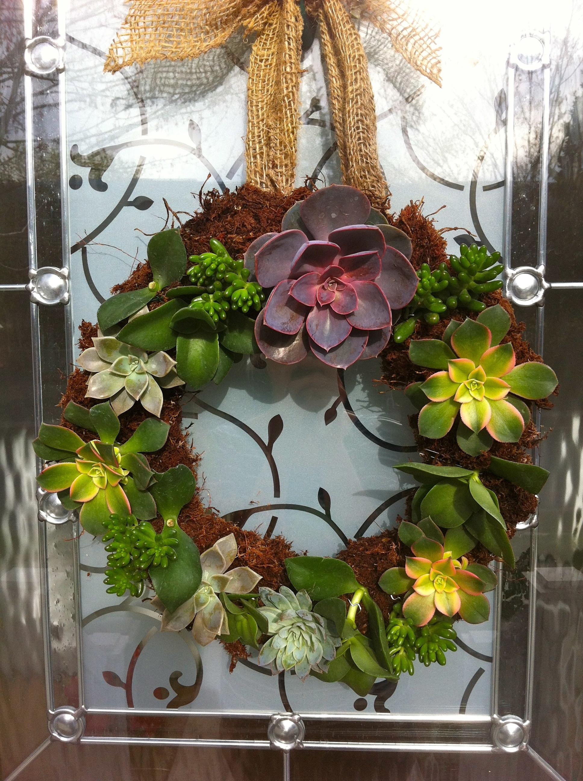 Succulent Wreath Simple Elements