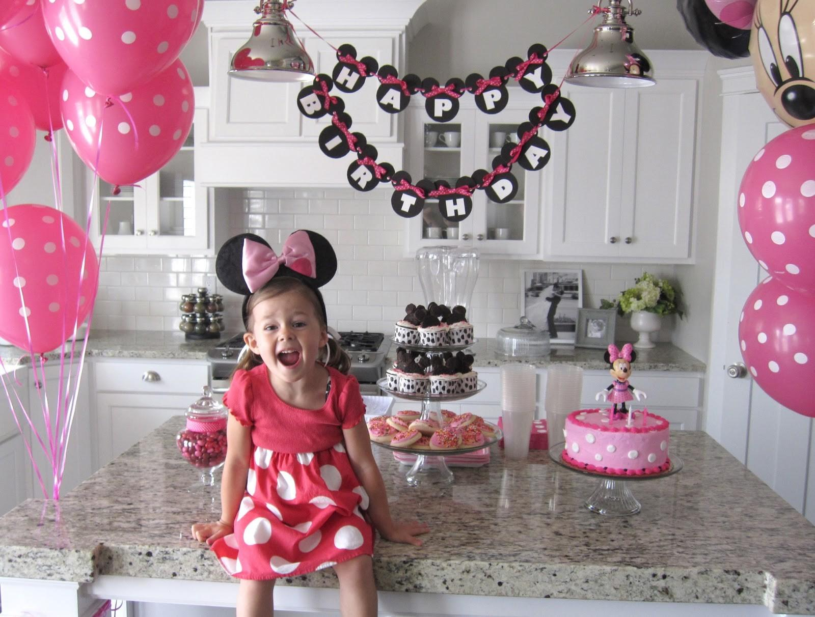 Sugar Fresh Lily Minnie Mouse Party Banner Printable