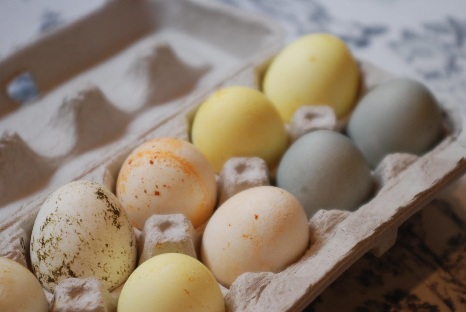 Sugar Spice Everything Nice Natural Dyed Easter Eggs
