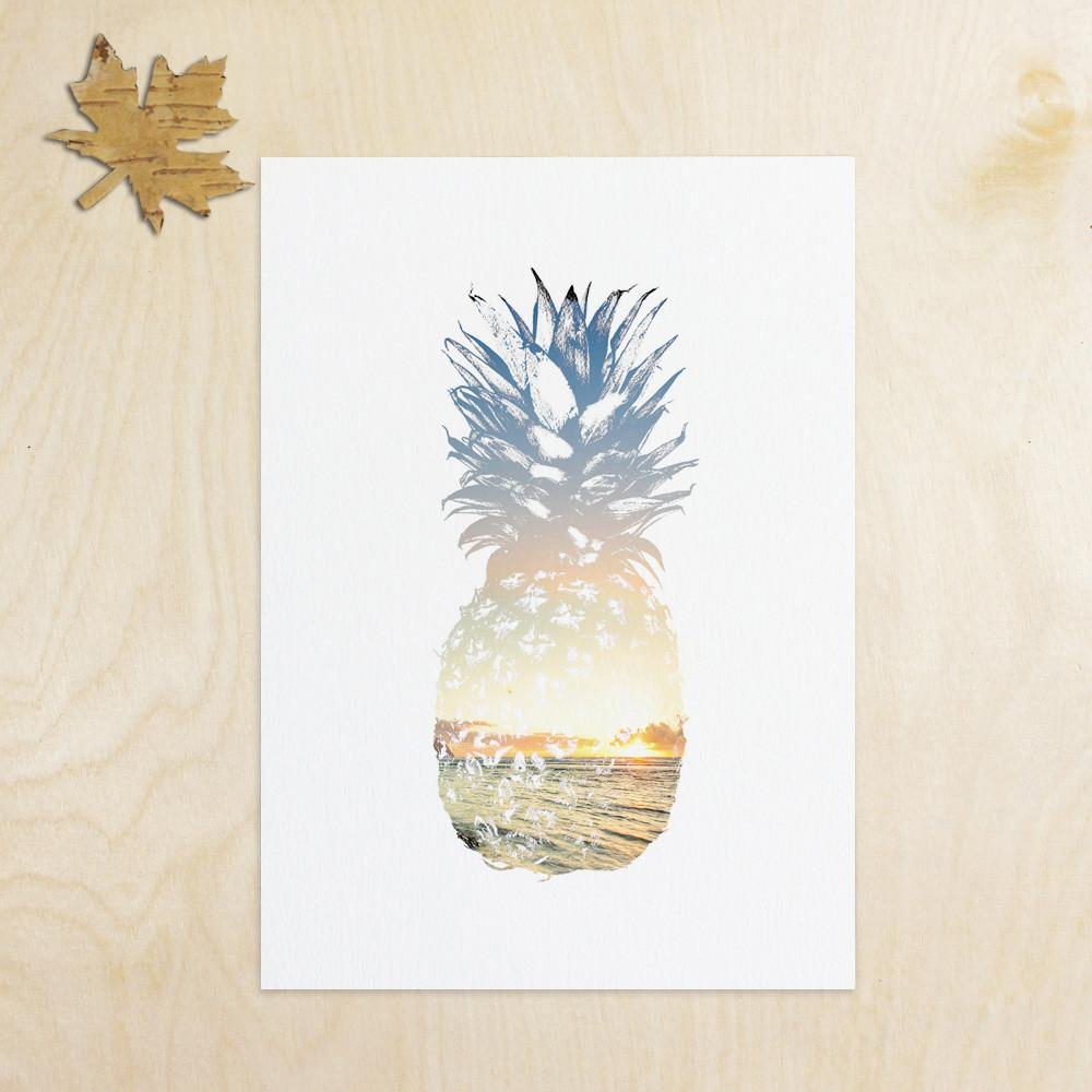 Summer Art Pineapple Wall Decor Tropical Beach
