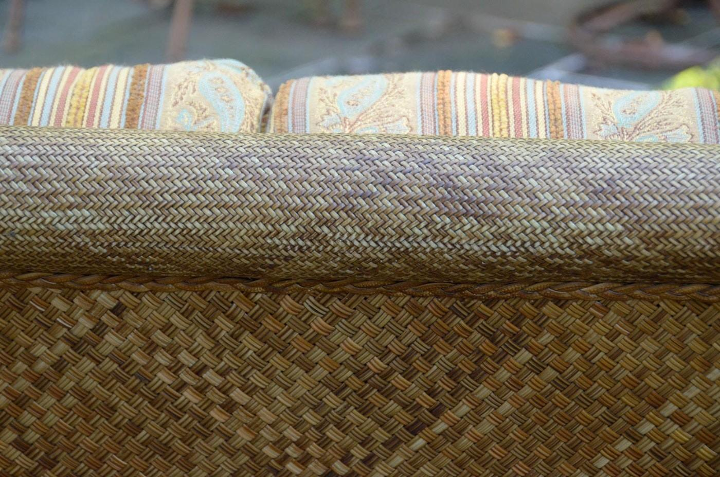 Summer Classics All Weather Wicker Sofa Bamboo Motif