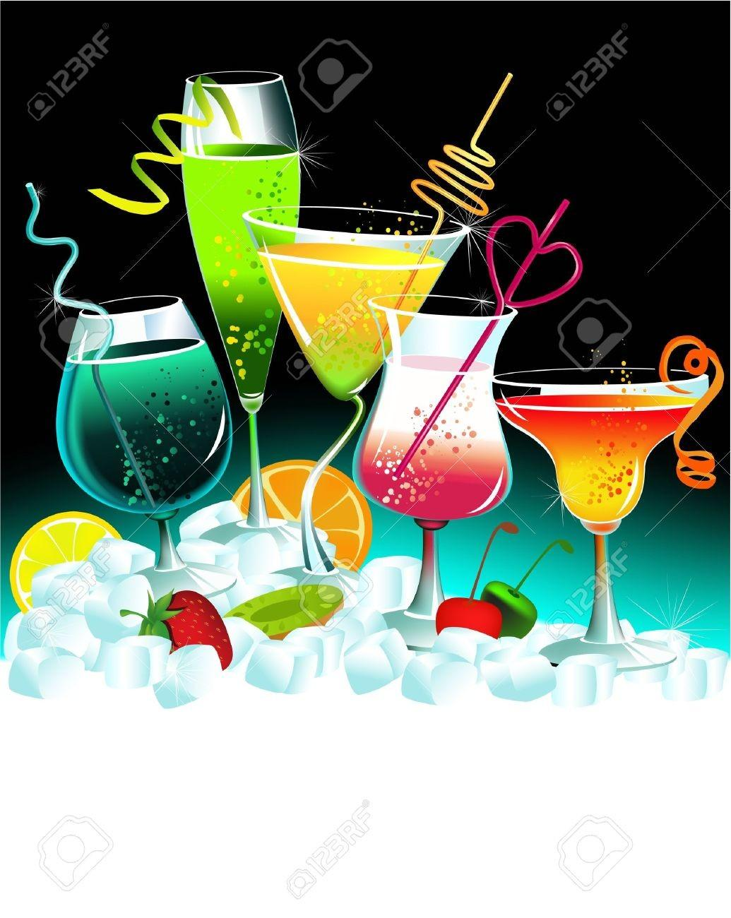 Summer Cocktail Party Clipart