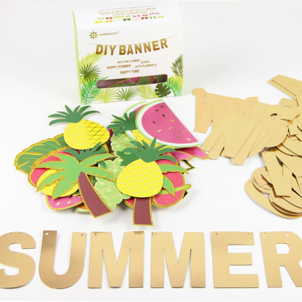 Summer Custom Letter Banner Fruit Gift Box Kit Diy