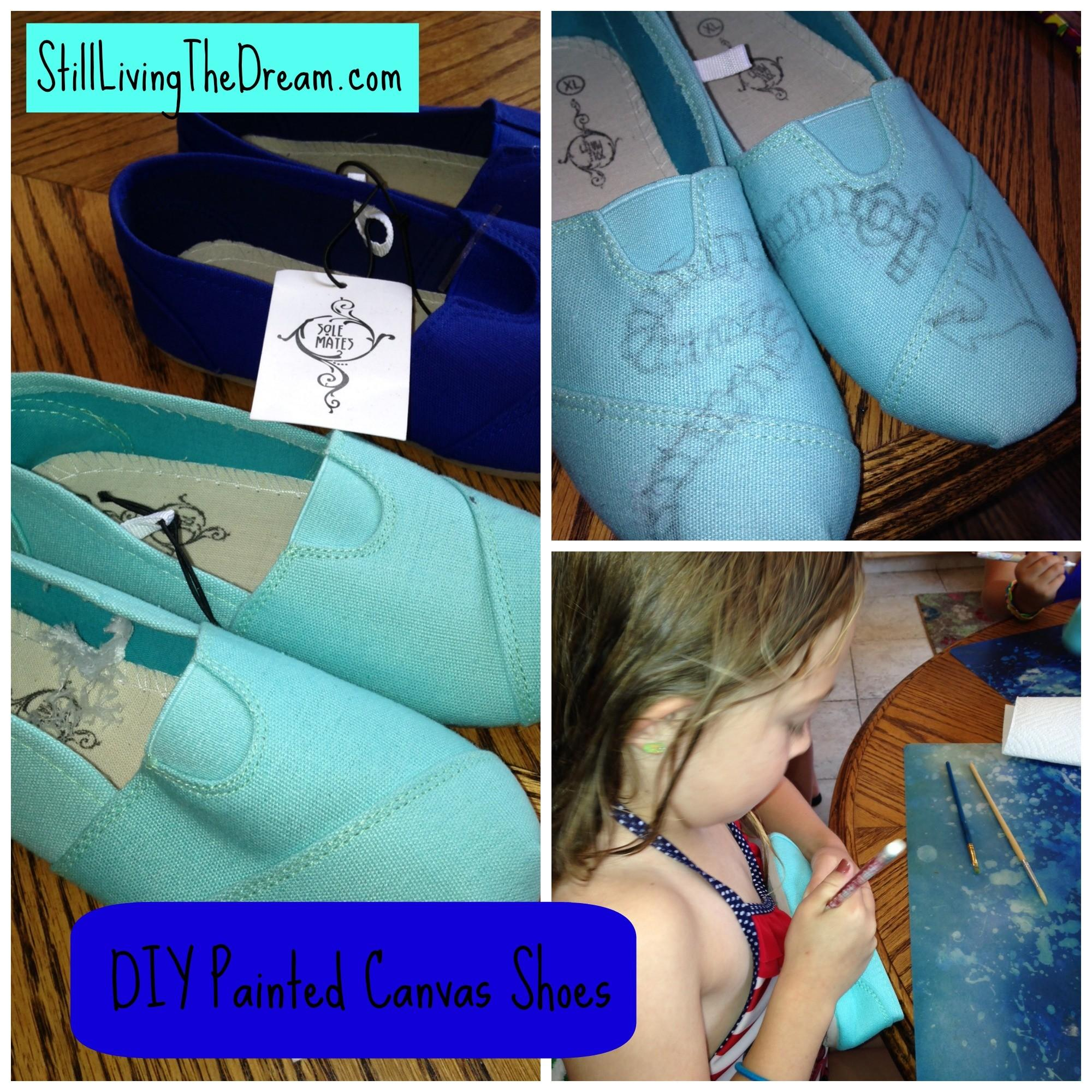 Summer Diy Craft Project Painted Canvas Shoes Still