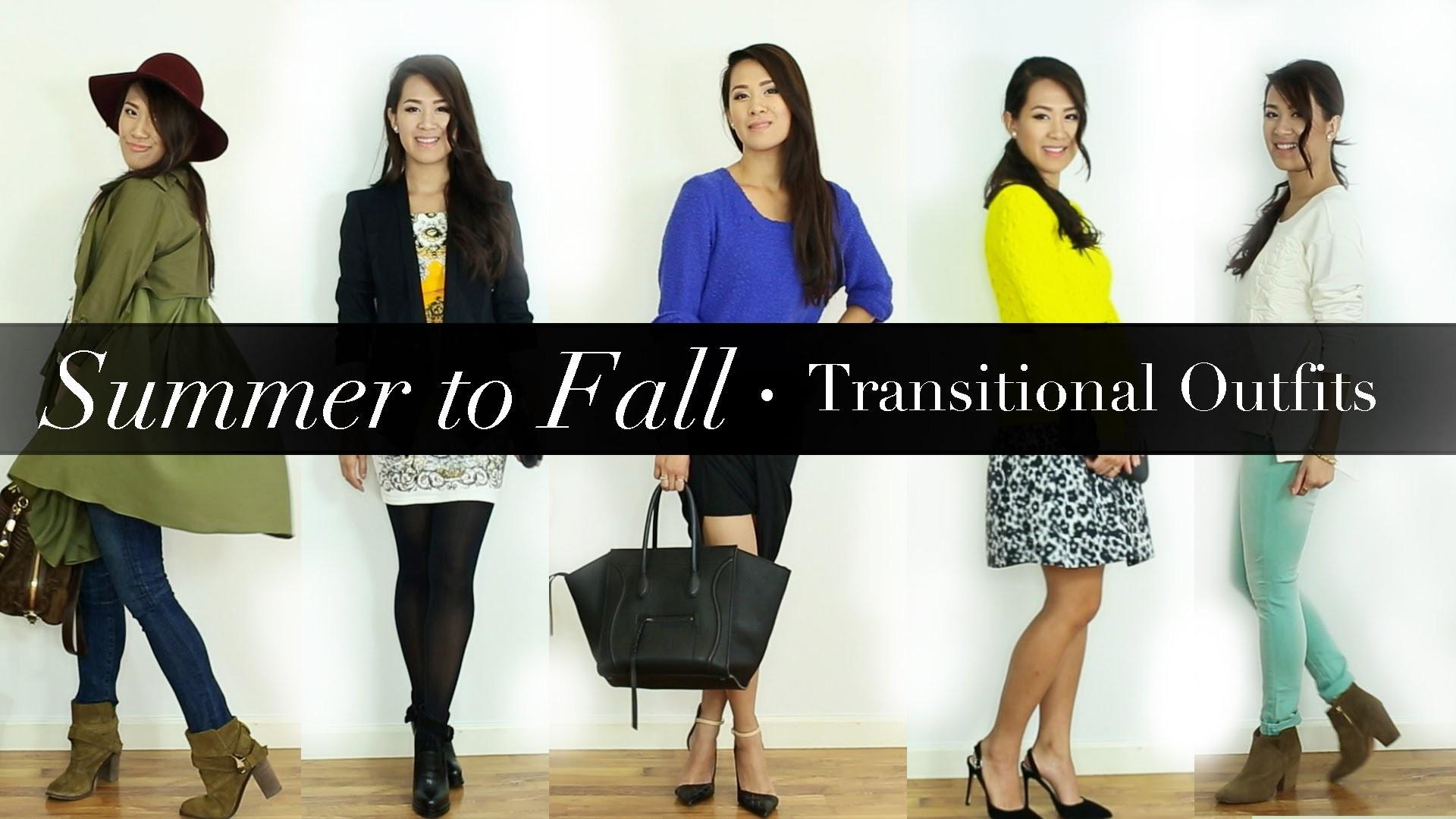 Summer Fall Transitional Outfits Style Lookbook