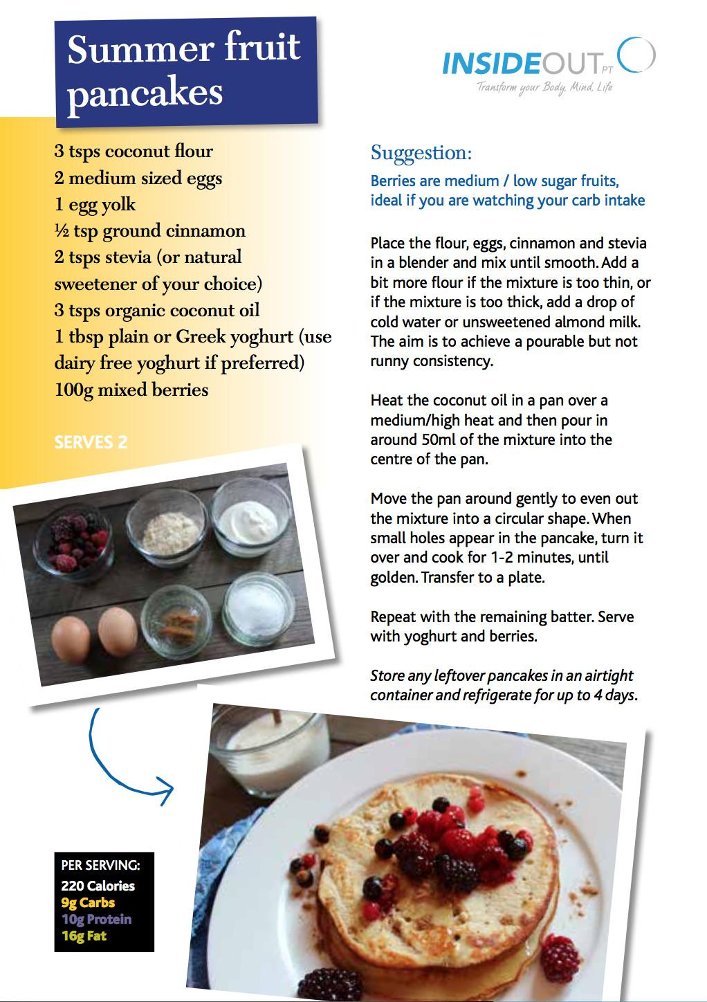 Summer Fruit Pancakes Inside Out Personal Training