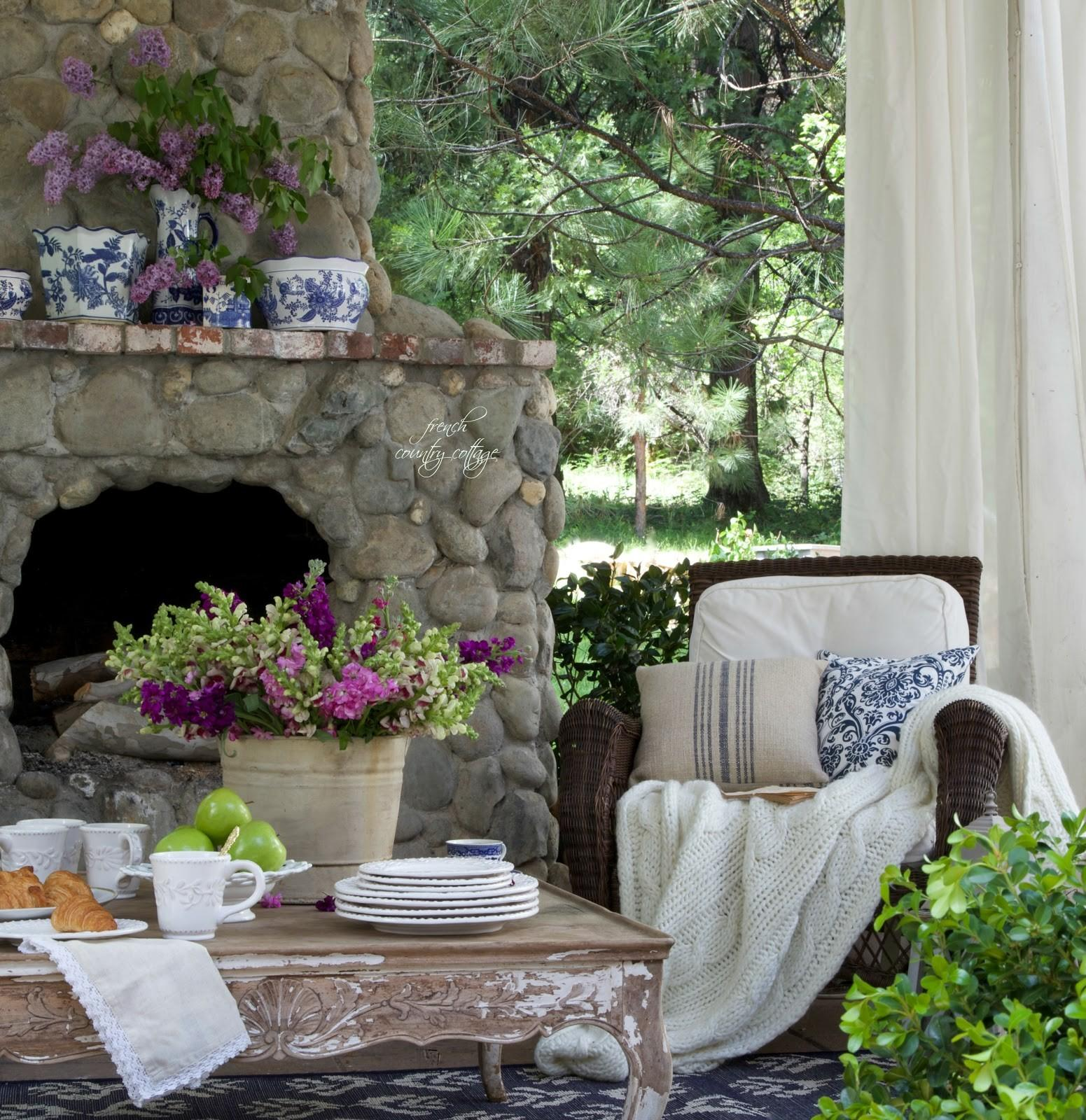 Summer Garden Party Event French Country Cottage Patio