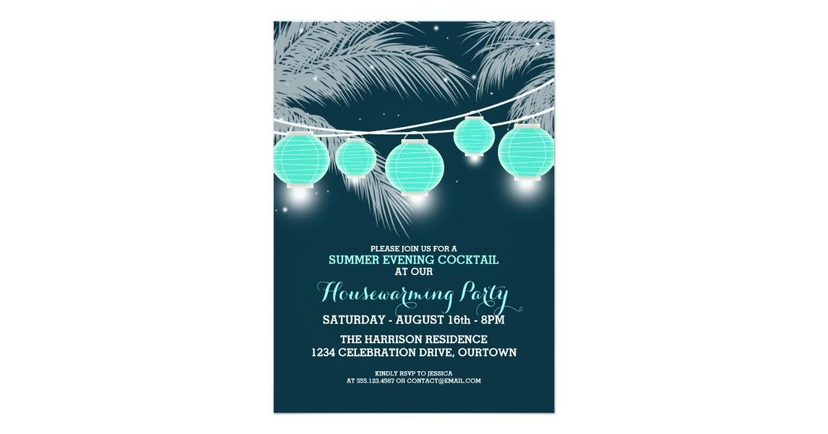 Summer Housewarming Cocktail Party Invitations Zazzle