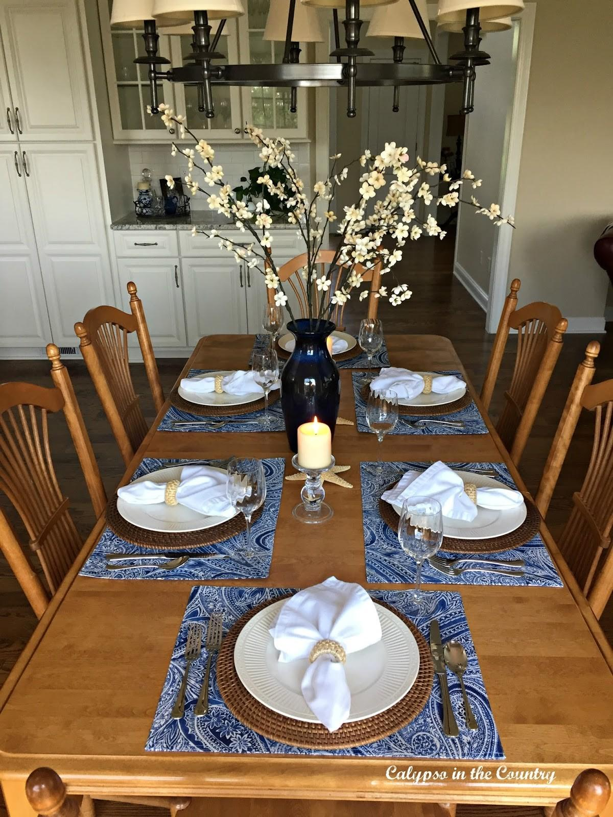 Summer Inspired Kitchen Table Setting Calypso Country