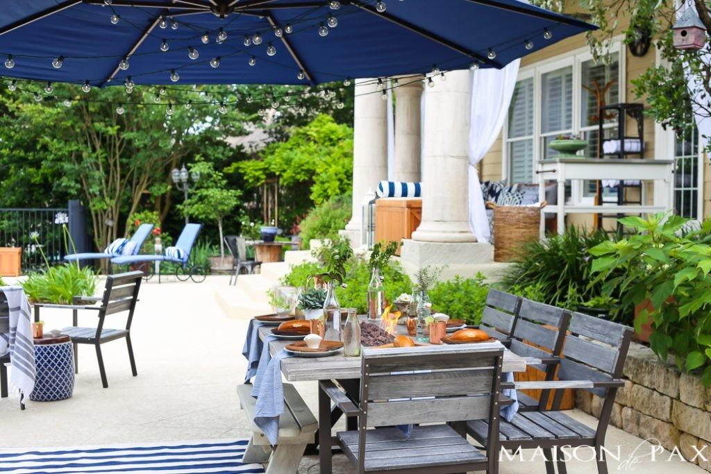 Summer Outdoor Dining Space Reveal Maison Pax