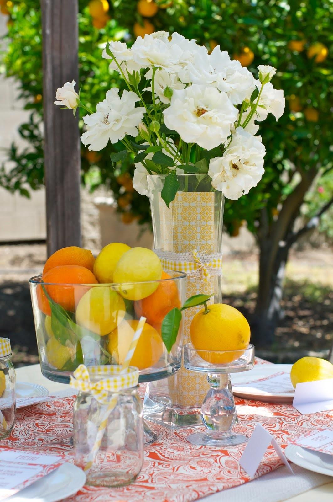 Summer Party Ideas Citrus Themed Ladies Luncheon