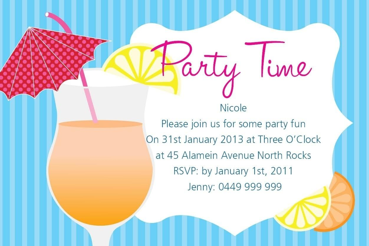 Summer Party Invitation Wording Cobypic