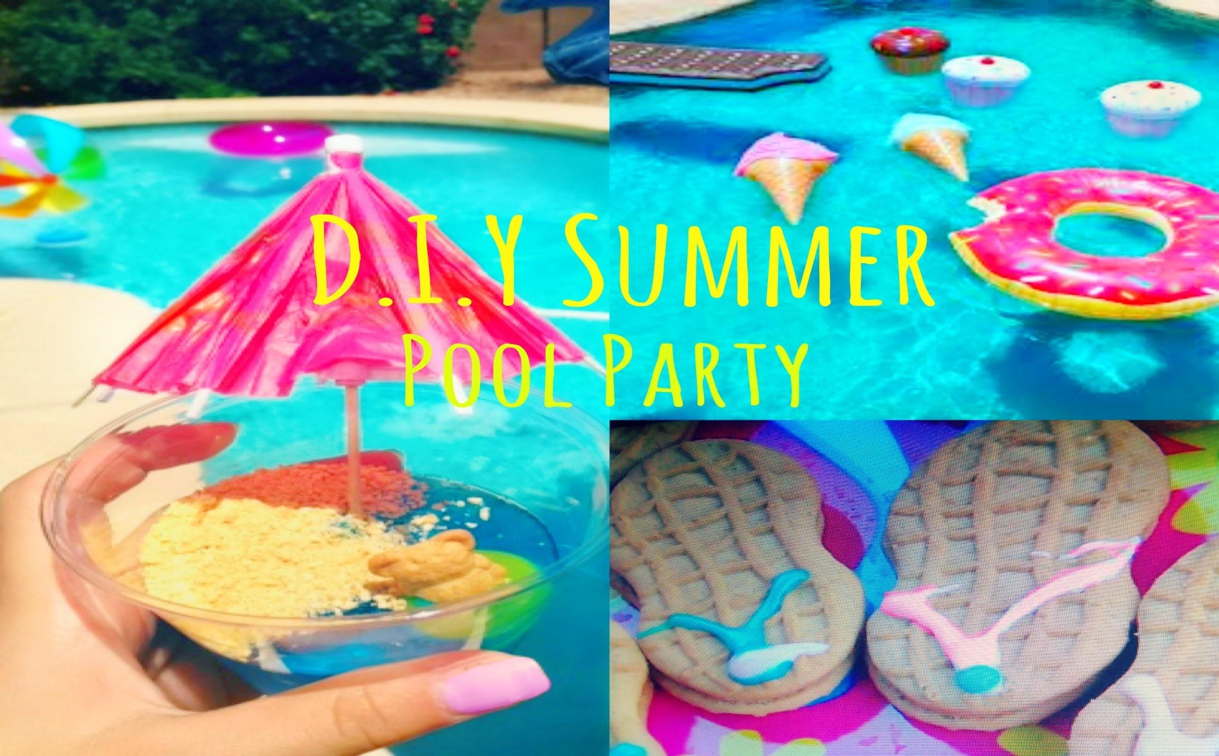 Summer Pool Party Treats Diy Booth Decor