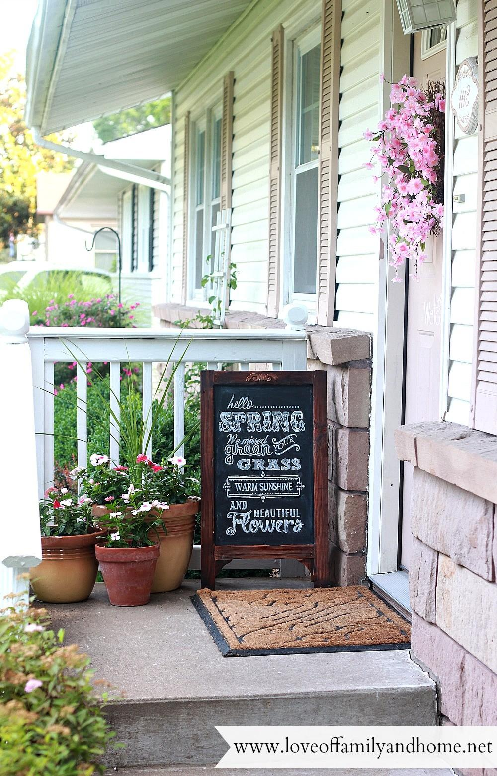Summer Porch Makeover Chalkboard Art Love Family Home