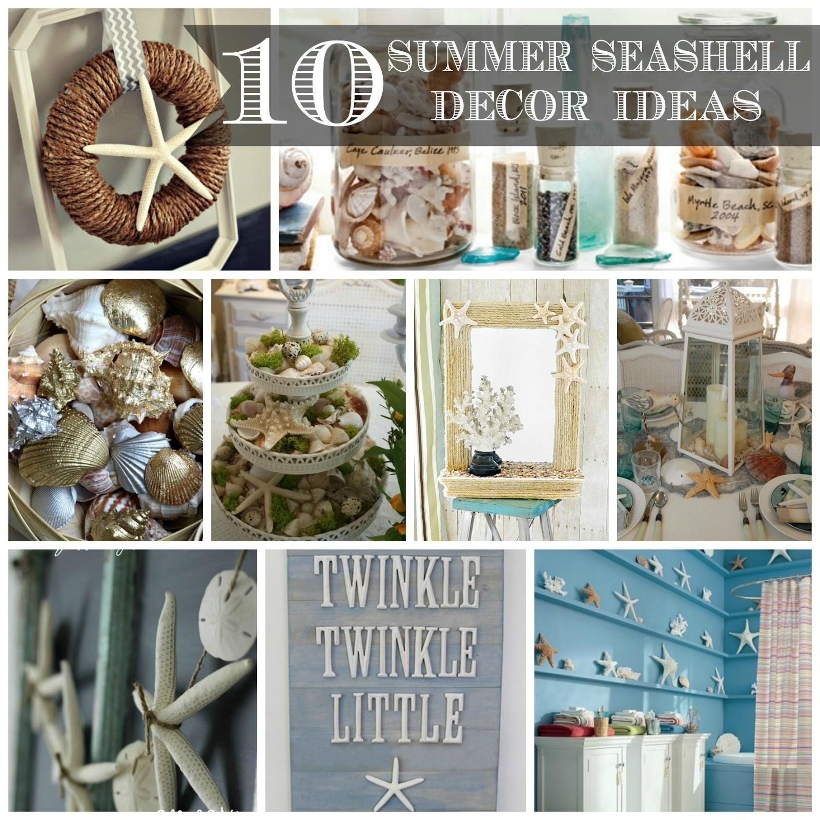 Summer Seashell Decor Ideas
