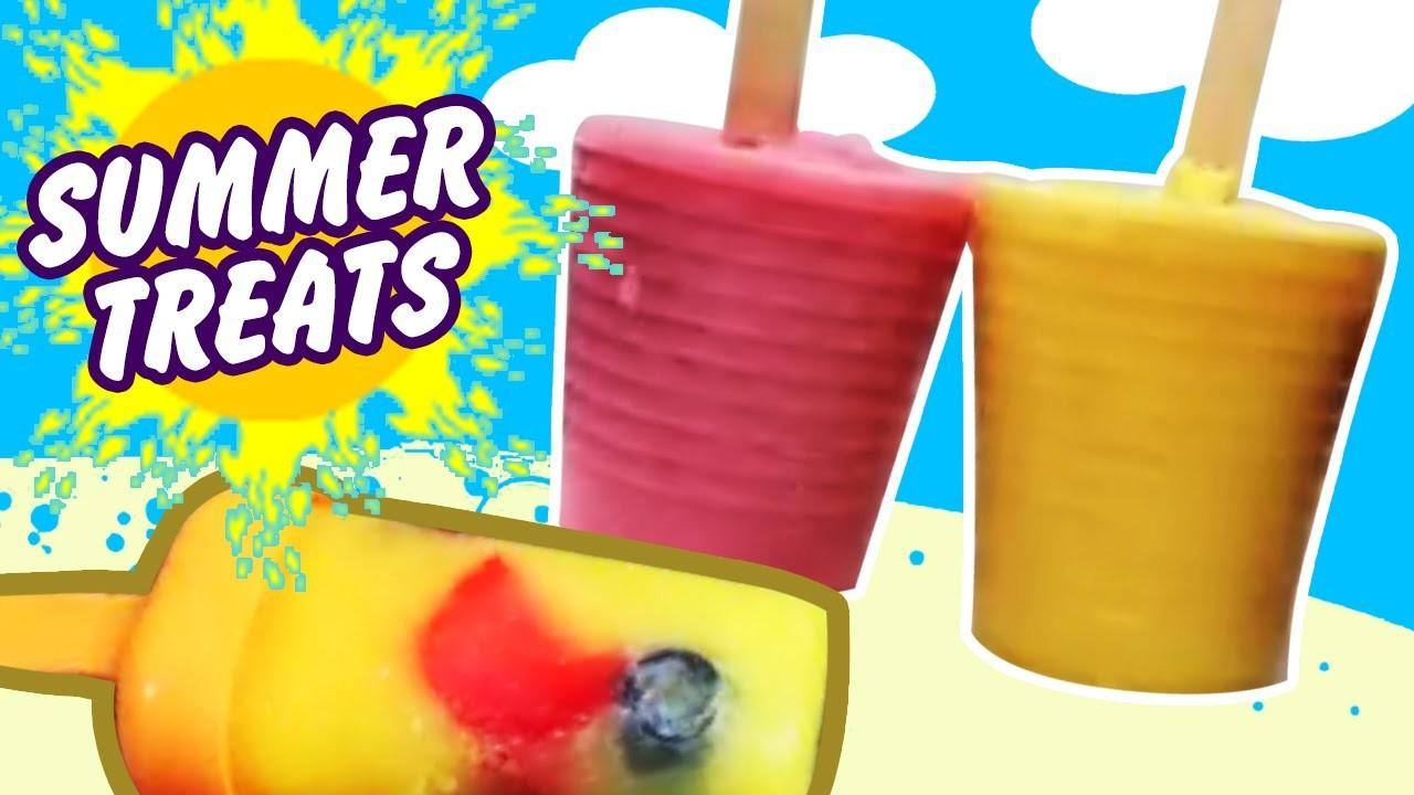 Summer Treats Healthy Homemade Popsicles Easy Diy