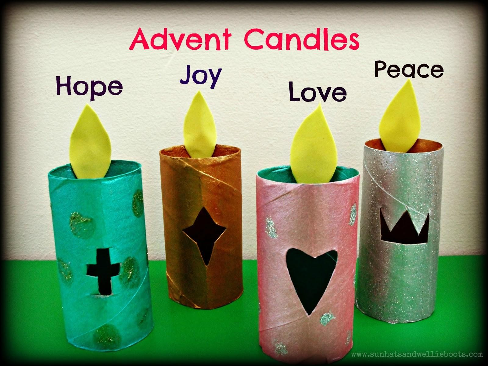 Sun Hats Wellie Boots Glowing Paper Advent Candles
