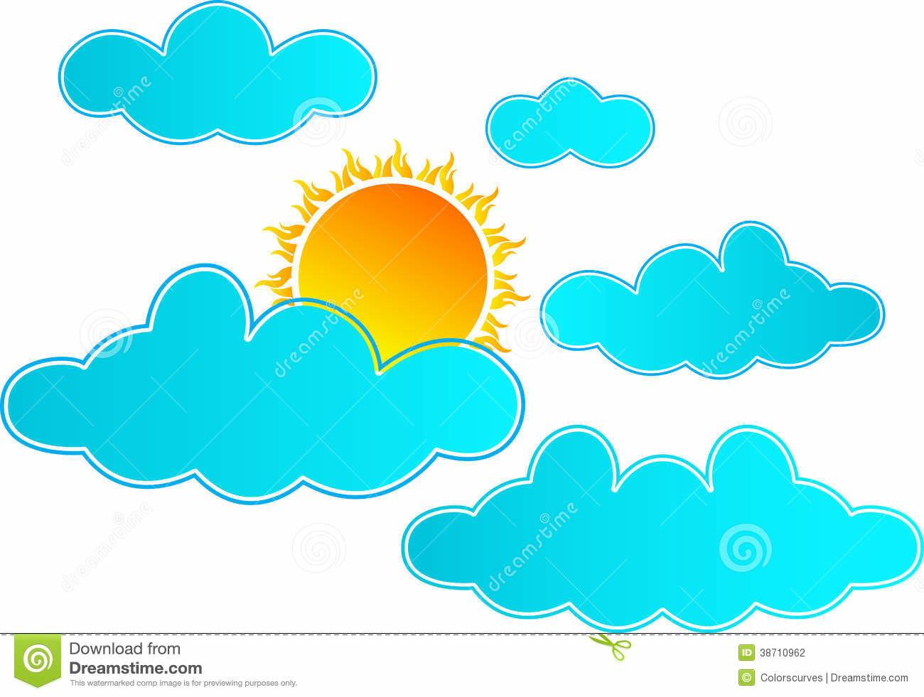 Sun Rising Clouds Stock Photography