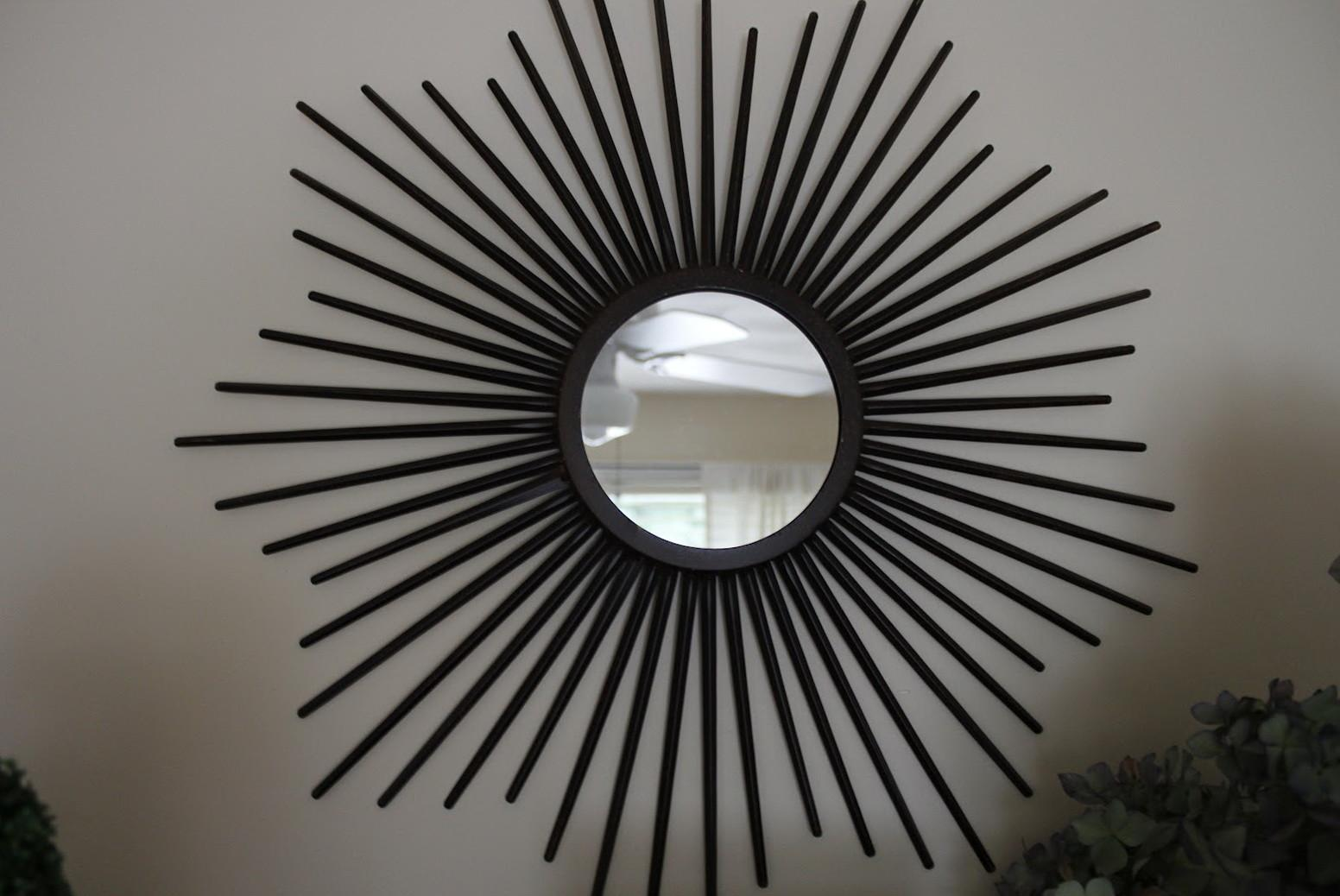 Sunburst Mirror Over Fireplace Home Design Ideas