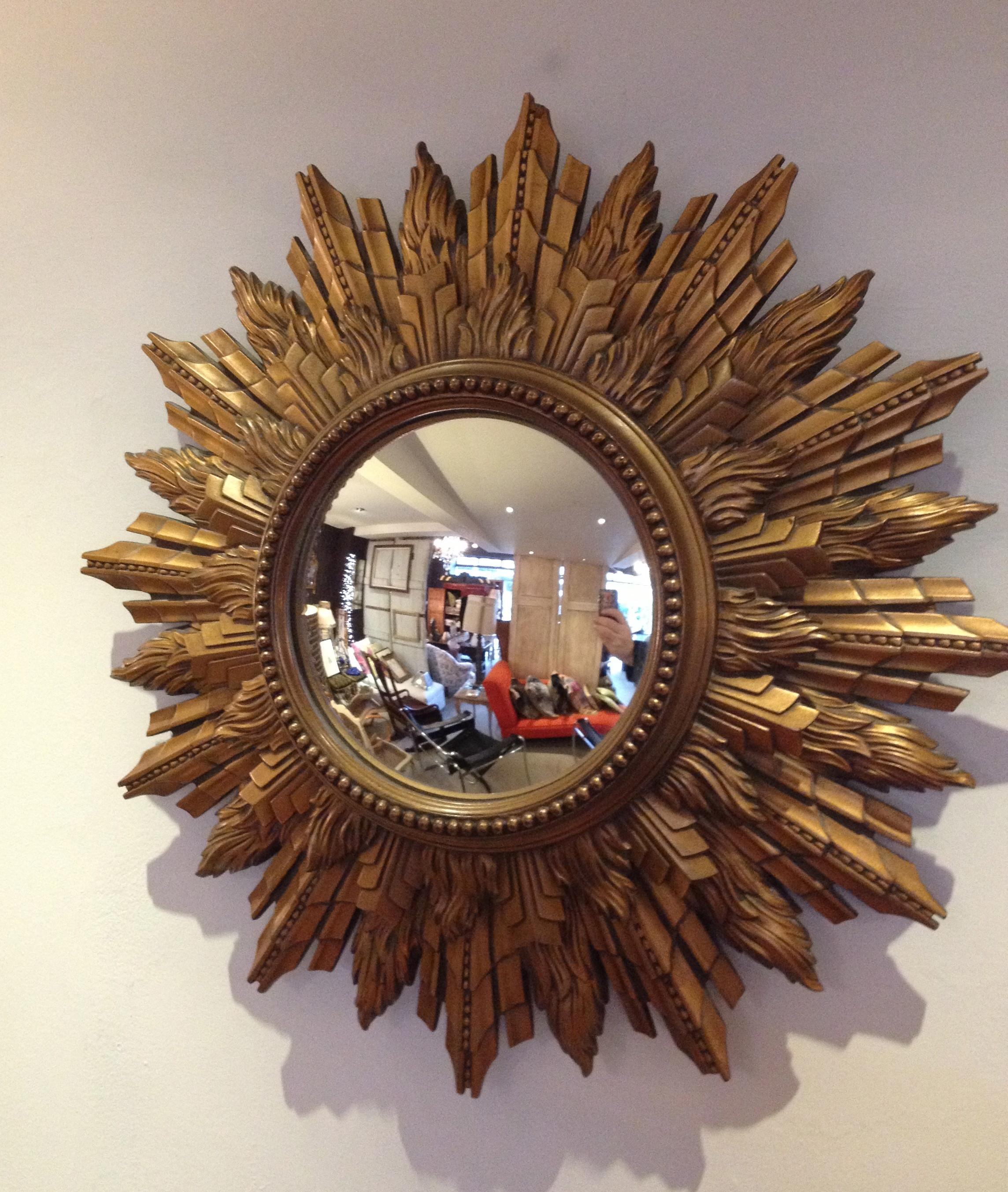 Sunburst Wall Decor Wood Shim Starburst Mirror Crafts
