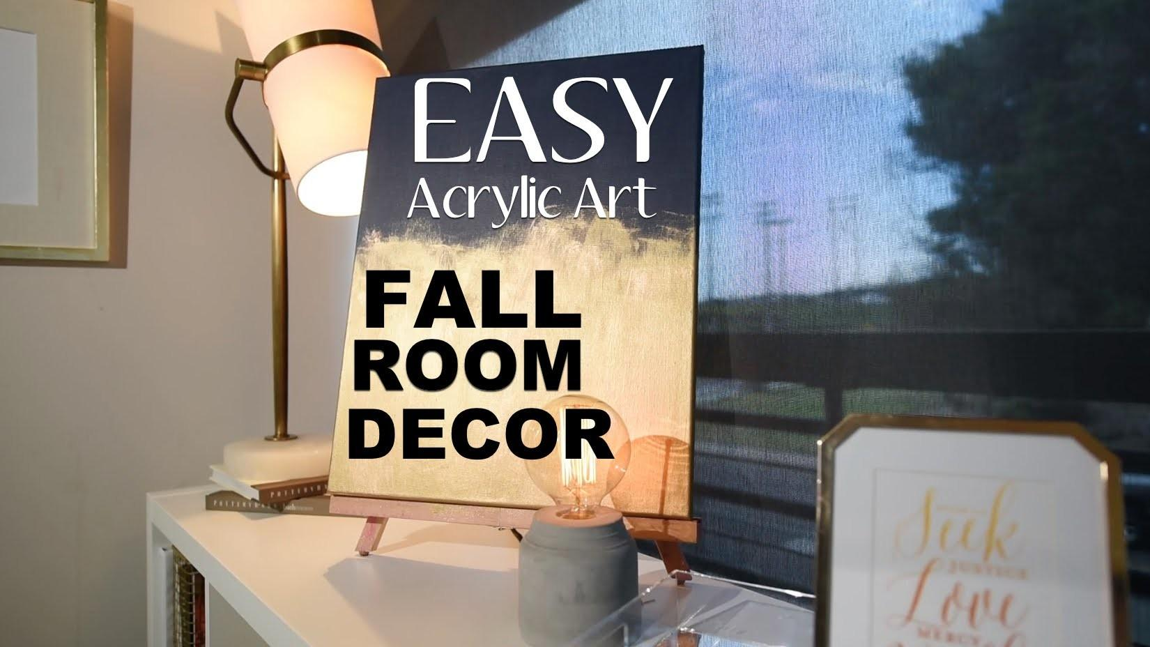 Super Easy Diy Wall Art Fall Room Decor Acrylic