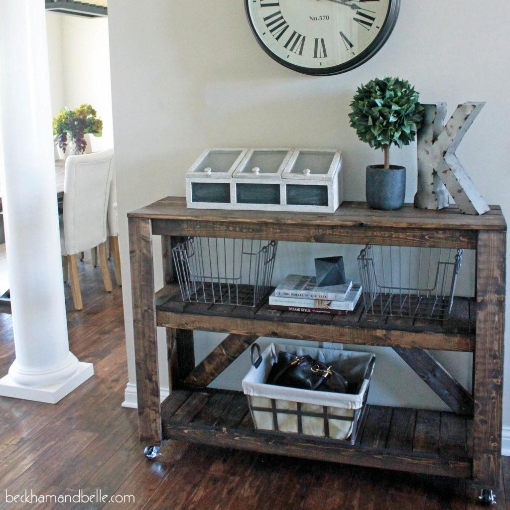 Super Easy Diy Wooden Entryway Console Table Beckham Belle
