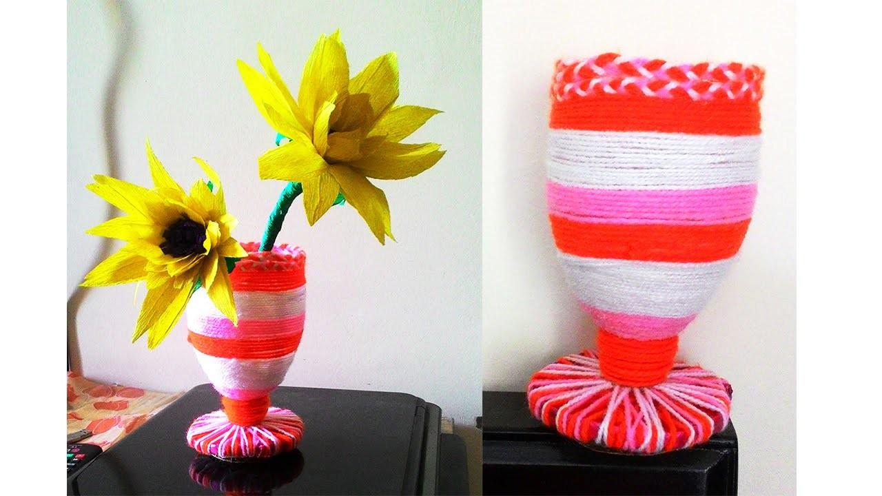 Super Easy Flower Vase Diy Waste Bottle Pen Stand