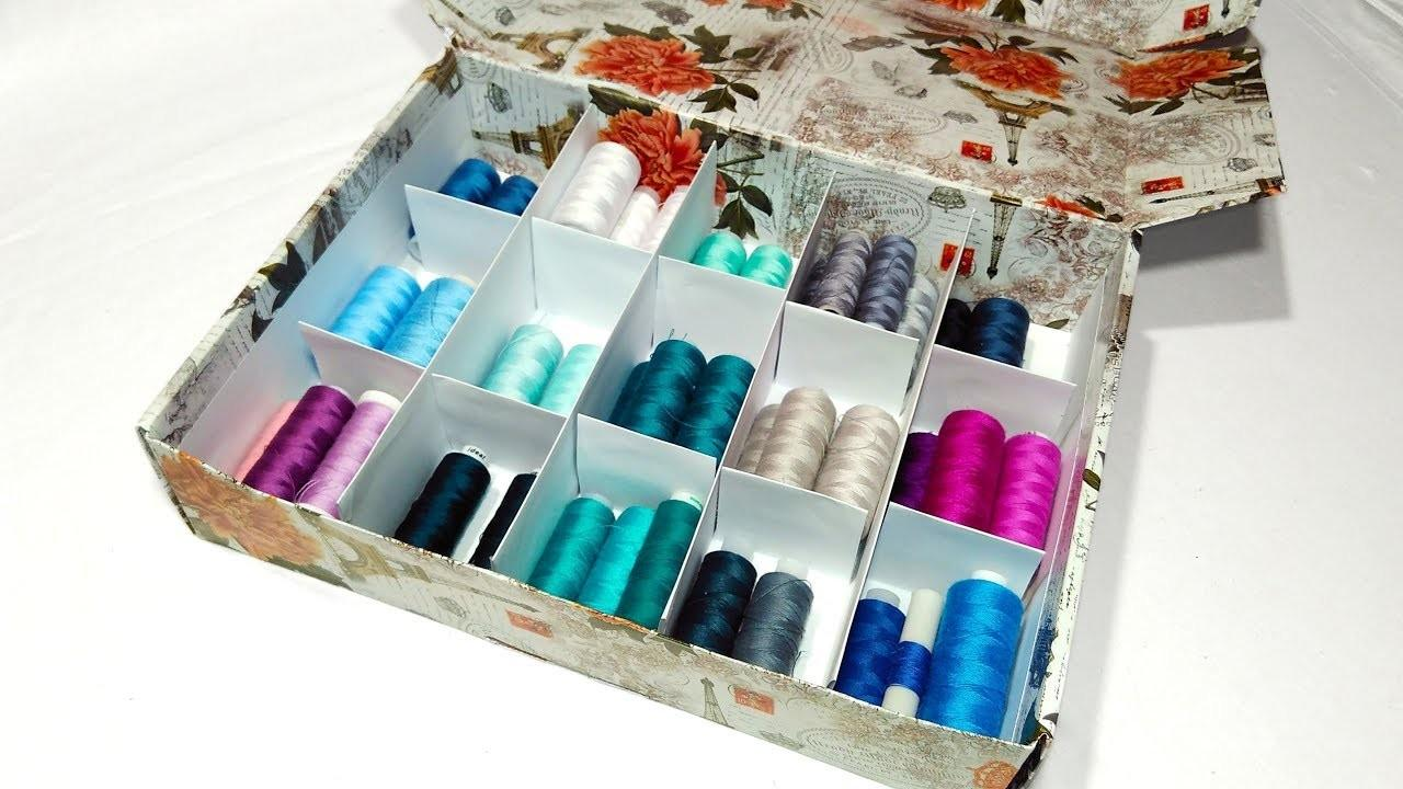 Super Easy Storage Box Make Thread Organizer