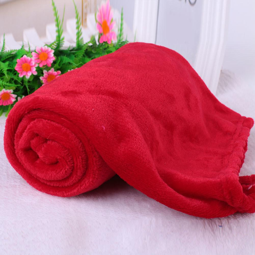 Super Soft Coral Fleece Throw Luxury Warm Home Sofa Bed
