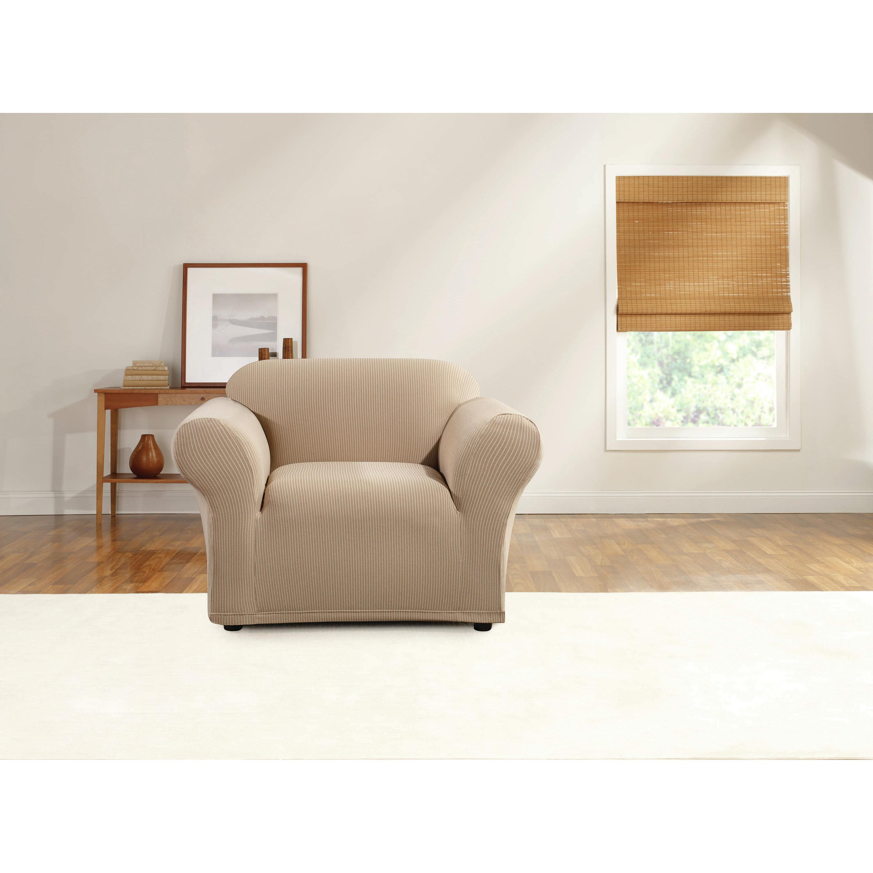 Sure Fit Simple Stretch Ticking Stripe Chair Slipcover