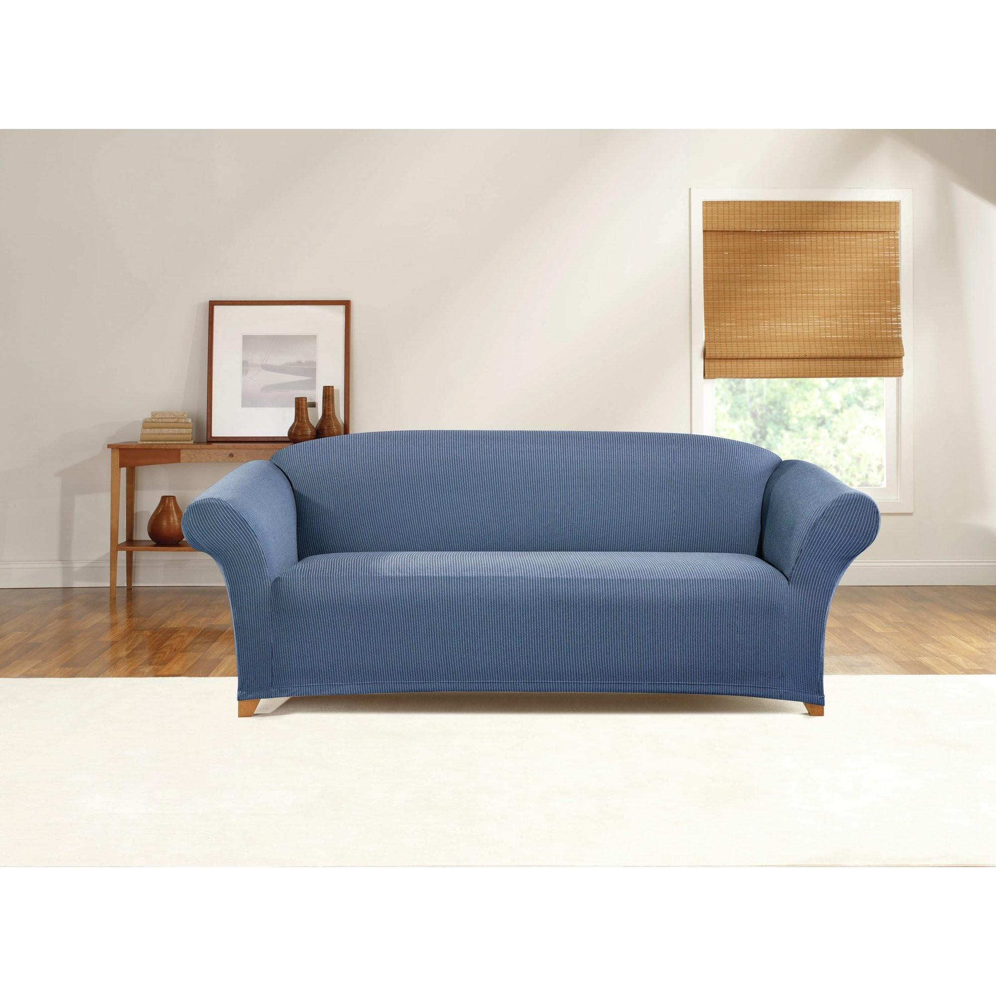 Sure Fit Simple Stretch Ticking Stripe Sofa Slipcover