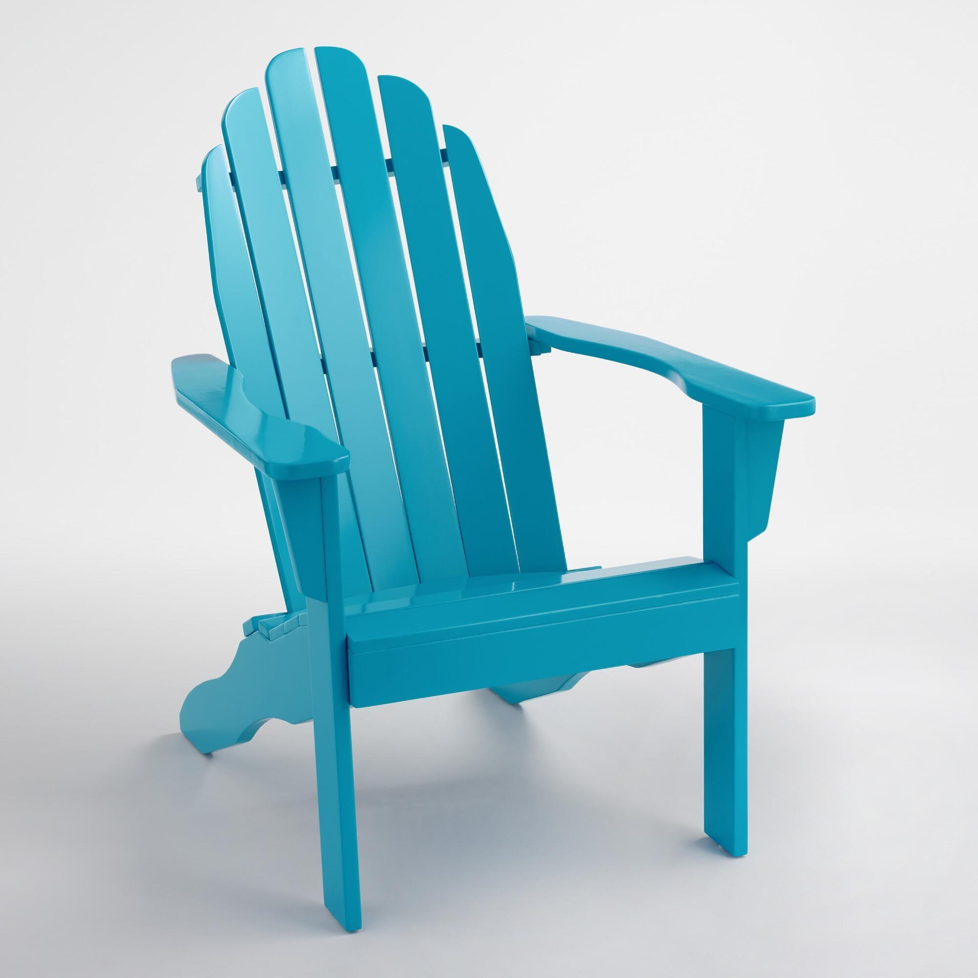 Surf Blue Adirondack Chair World Market