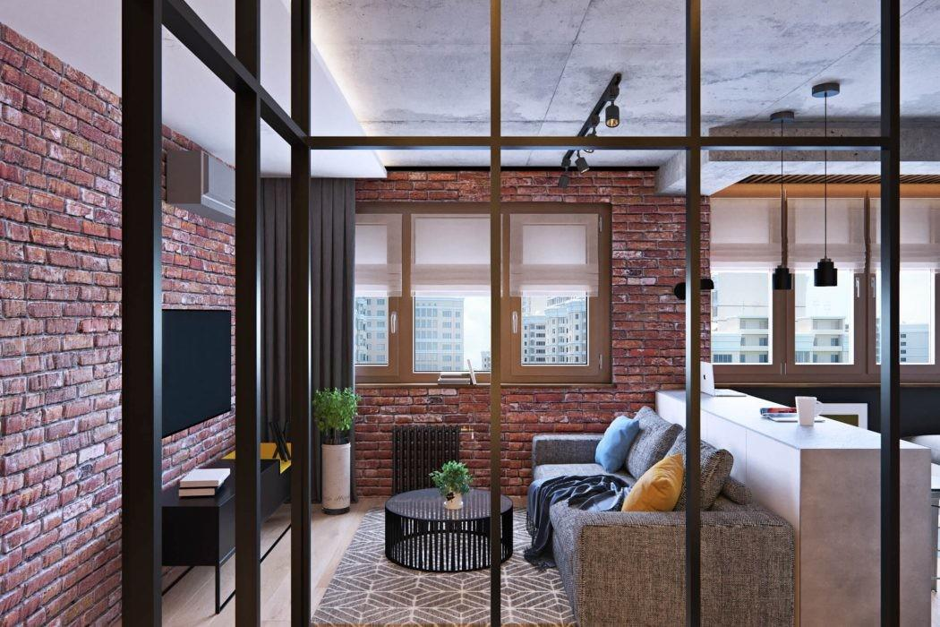 Surprising Layout Revealed Industrial Apartment