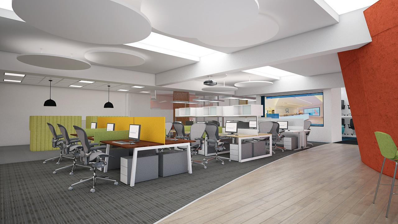 Suspended Acoustic Panels Architects Office Ceiling