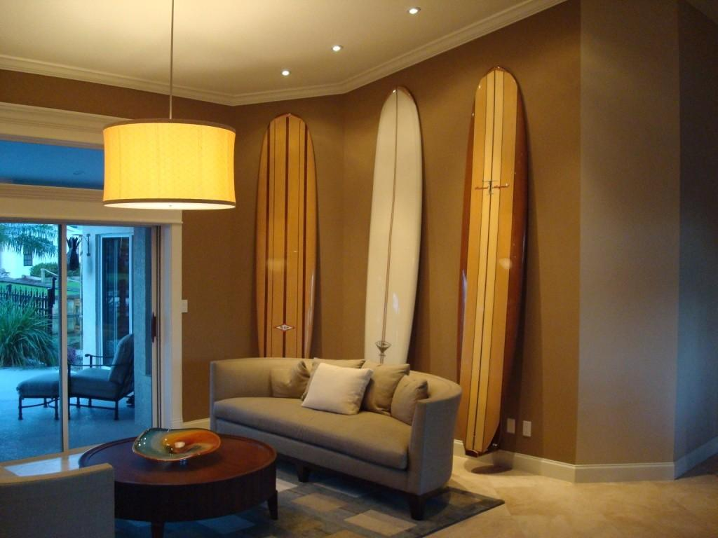 Sustainable Wooden Surfboard Storage Brought